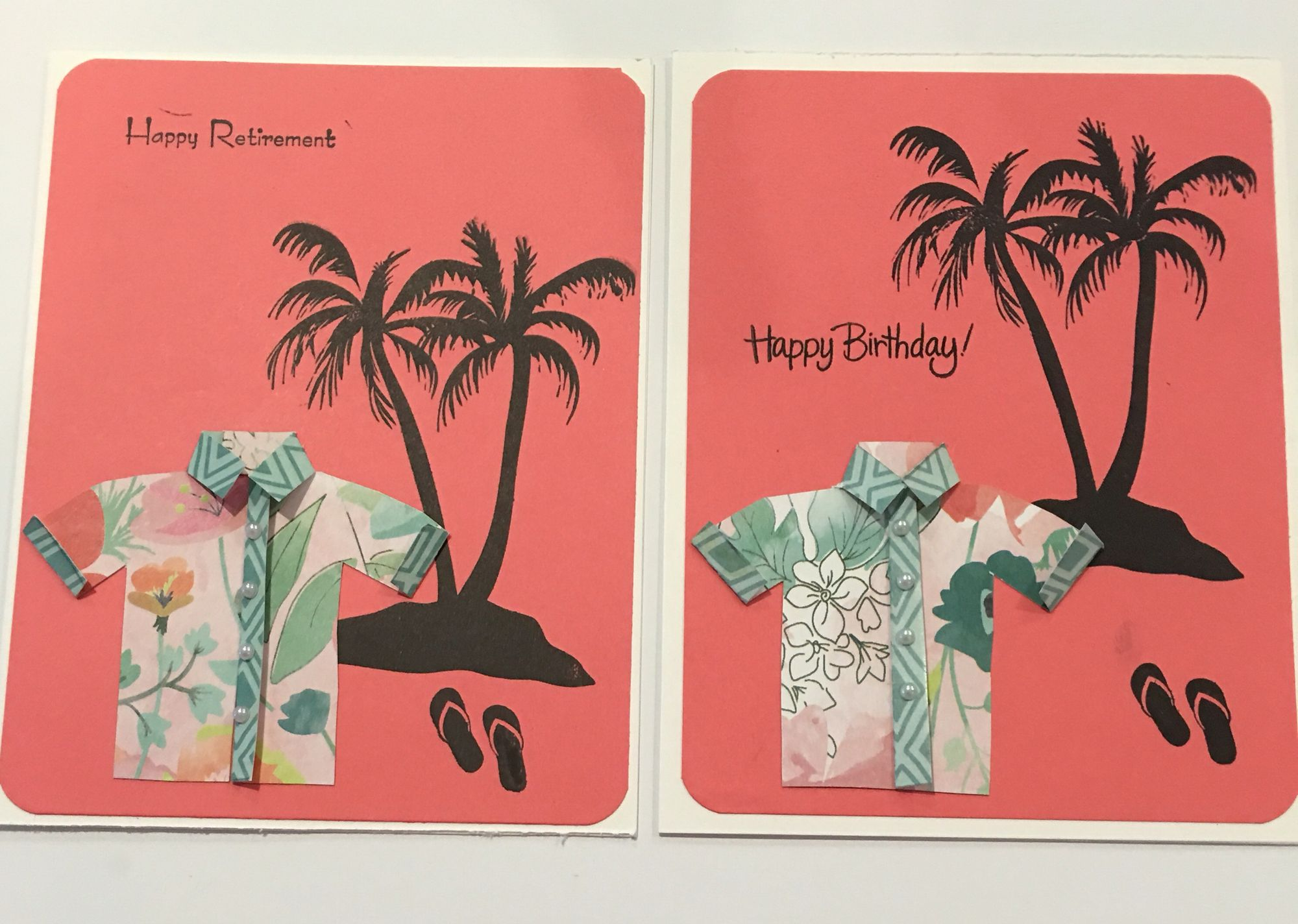 Cby happy birthday and happy retirement greeting cards with palm cby happy birthday and happy retirement greeting cards with palm tree flip flops and kristyandbryce Gallery