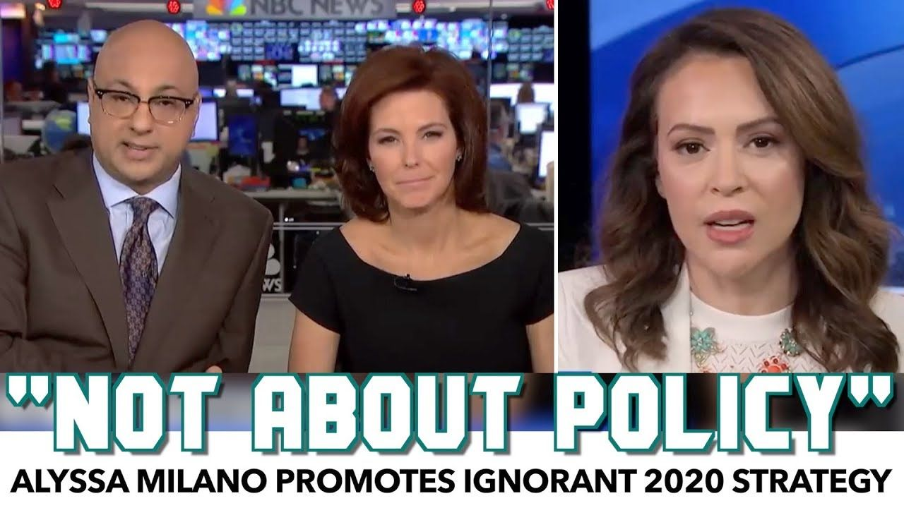 Alyssa Milano Promotes Ignorant 2020 Strategy On Msnbc With