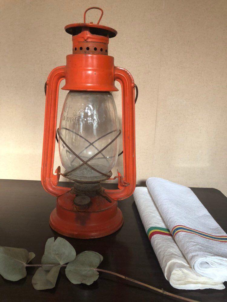 Lampe à Huile Antique Allemand Lampe à Pétrole Ancienne