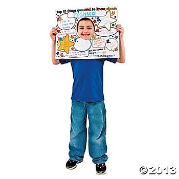 Color Your Own All About Me Top 10 Posters - Oriental Trading