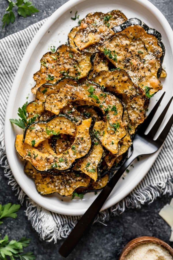 Herb-Roasted Parmesan Acorn Squash - The Real Food