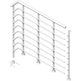 Best Shop Dolle 39 1 2 Powder Coated Metal Landing Banister 400 x 300