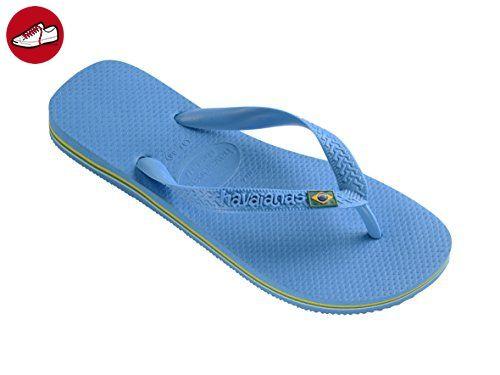 Slim Brasil Logo, Tongs Femme Bleu (Bleu Marin) 35/36 EUHavaianas