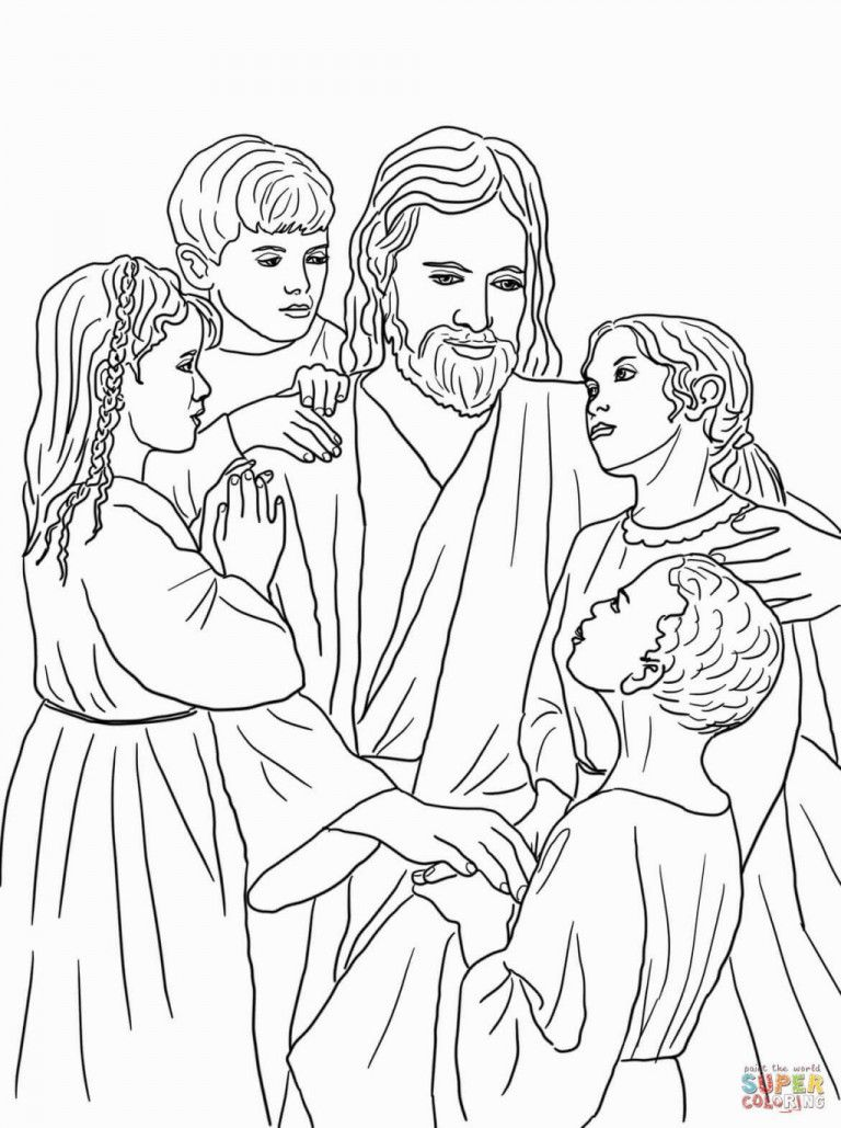 - Jesus Baptism Coloring Page Christian Coloring, Bible Coloring Pages
