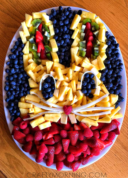 Creative Bunny Rabbit Fruit Platter - Crafty Morning