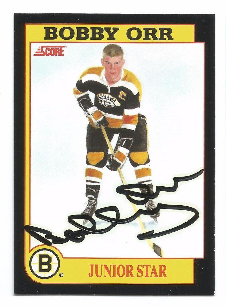 1991 92 Score Bobby Orr Junior Star Autographed Card Nm Free Usa Shipping Bobby Orr Cards Junior
