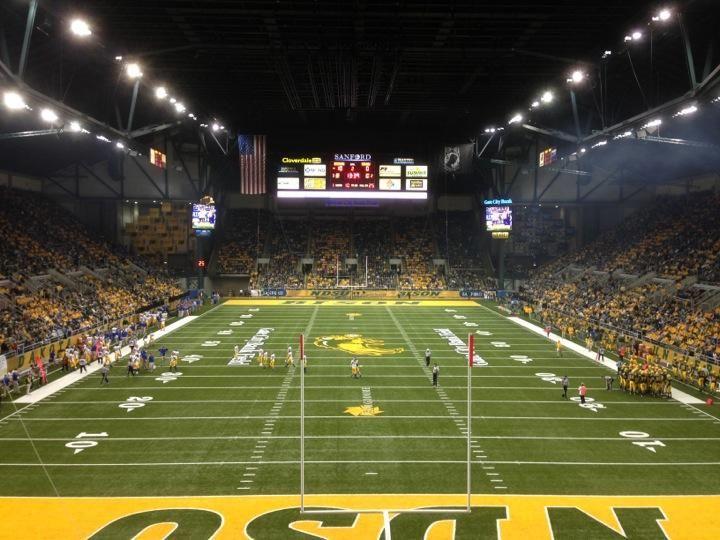 Fargodome football stadiums college football north dakota
