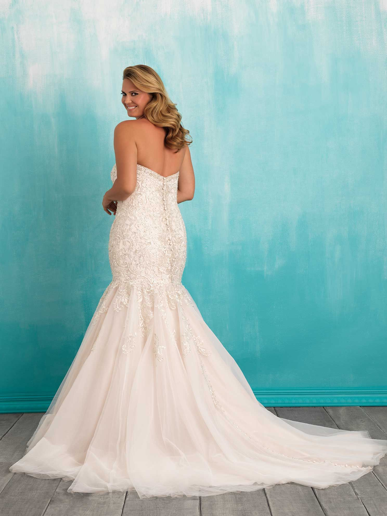 Style W375 Plus Size Wedding Gowns Allure Wedding Dresses Bridal Dresses [ 1985 x 1488 Pixel ]
