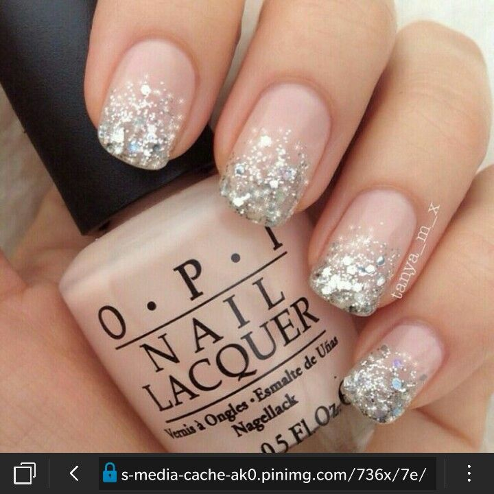 Light Pink With Glitter Ombre