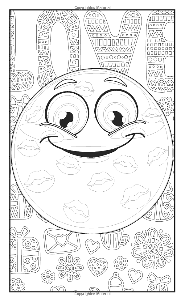 Amazoncom Emoji Crazy Coloring Book 30 Cute Fun Pages For
