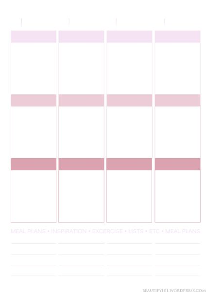 Planner101 Free printable page layout (Erin Condren inspired