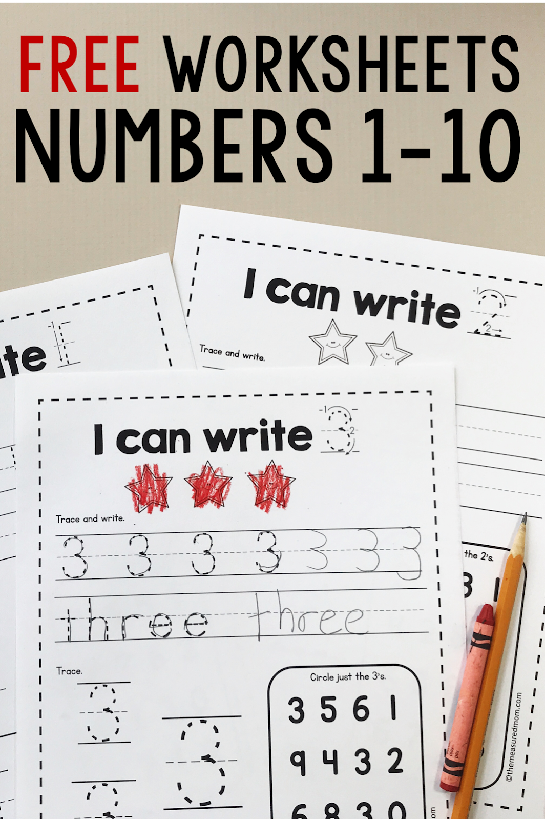 Subscriber Freebie Simple Number Worksheet Handwriting