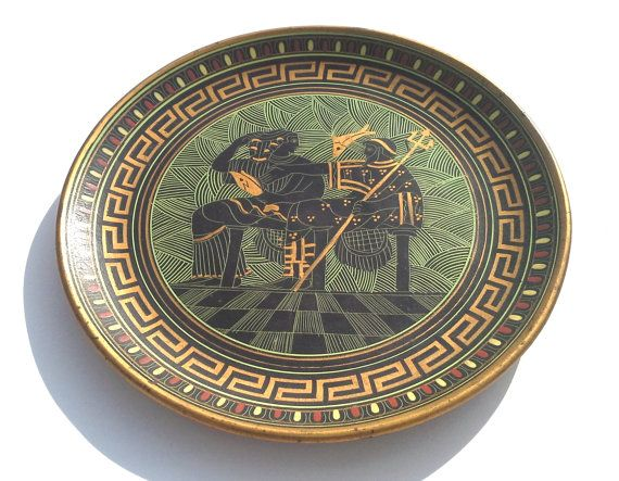 Greek Ceramic Plate Decorative Plate Ceramic Wall by CretanPast  sc 1 st  Pinterest & Greek Ceramic Plate Decorative Plate Ceramic Wall Hanging Ceramic ...