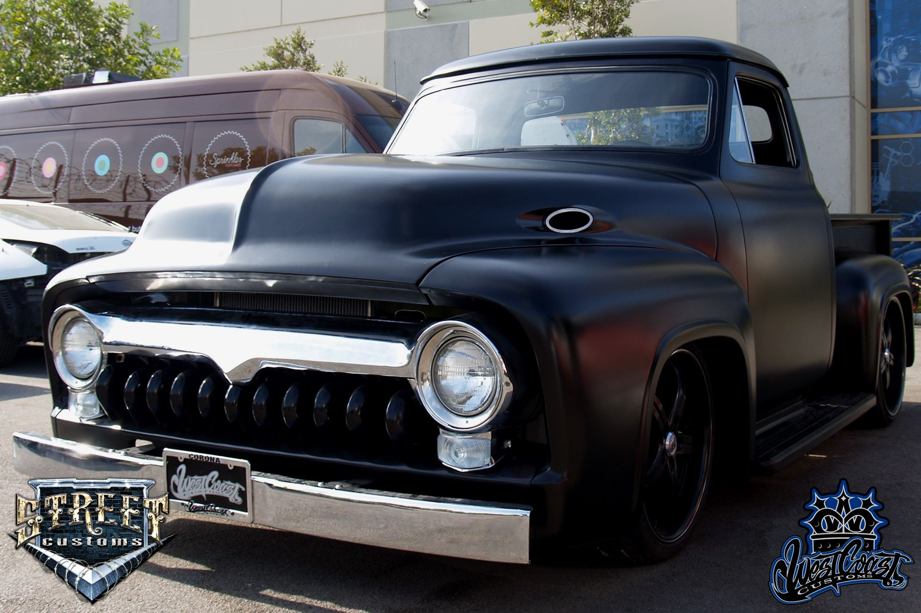 Black 1955 Ford F100 Pickup From The Movie Expendibles Old School Pick Up