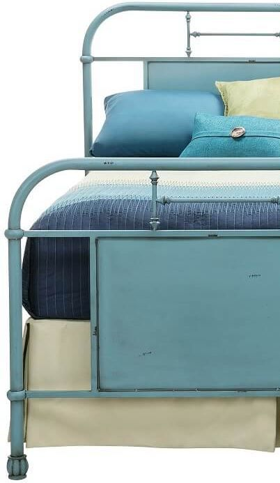 Best Beautiful Vintage Blue Bed Frame Bed Blue Bedding 400 x 300