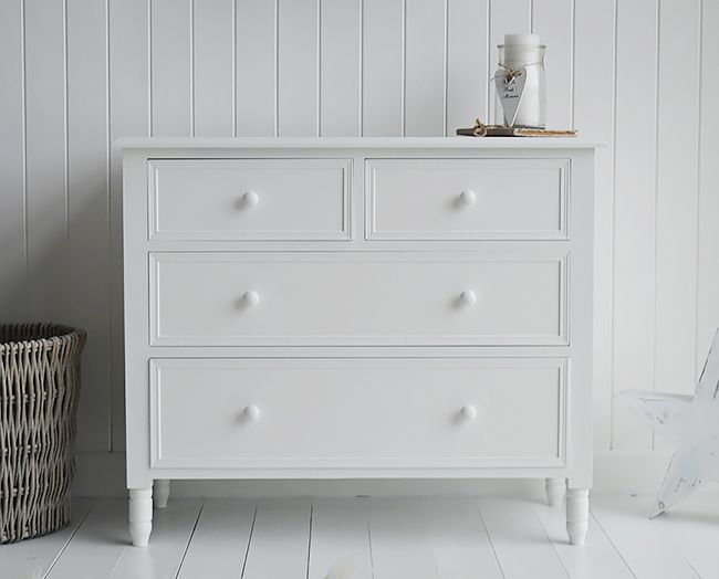 Simple White New England Chest Of Drawers Bedroom Chest Of Drawers White Chest Of Drawers White Drawers Bedroom