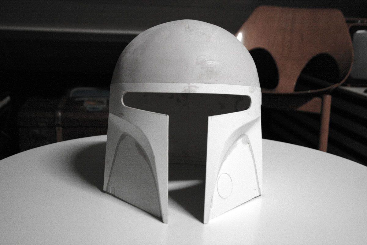 Scratch building Ralph McQuarrie concept helmet.