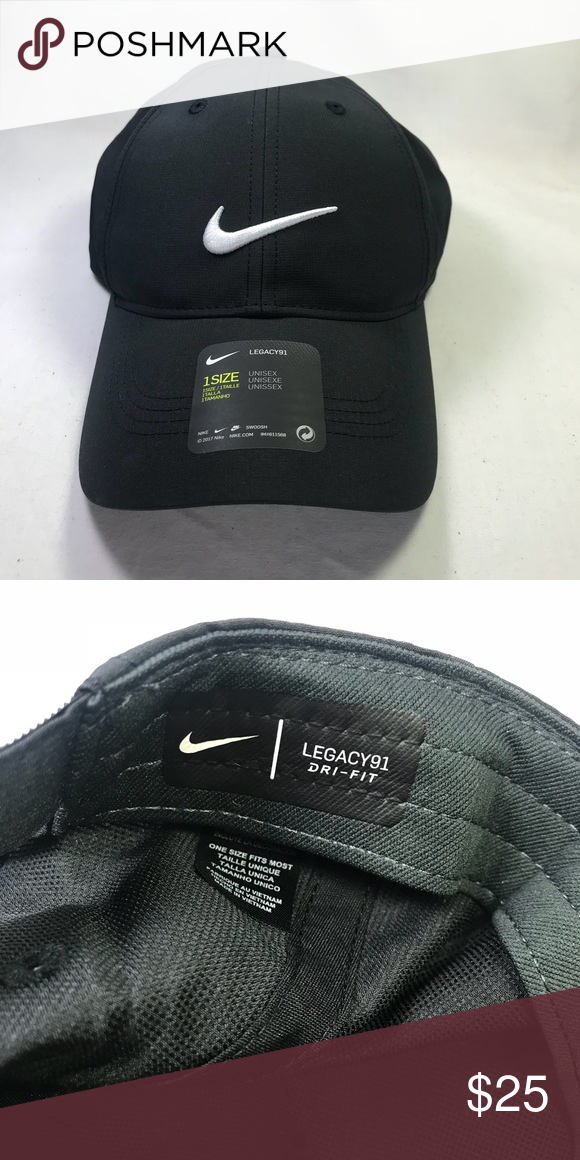 50f7a323c Nike Legacy 91 Golf Cap Adjustable Nike Legacy 91 Golf Hat Size  Adjustable  Color  Black