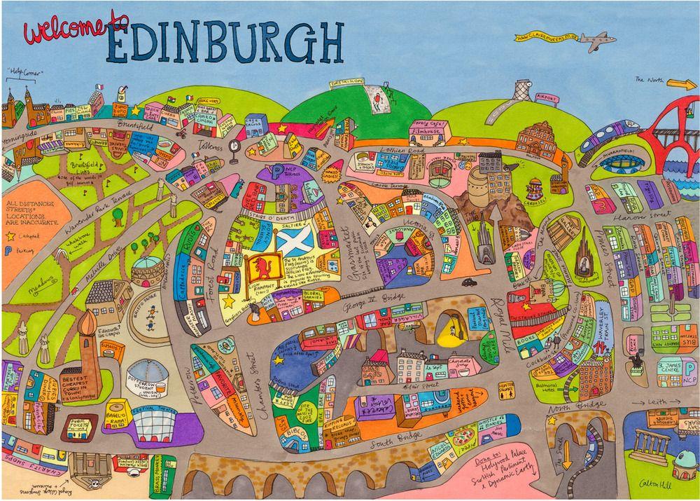 a3 map Edinburgh | Scotland . cities | Edinburgh, Visit edinburgh, Map
