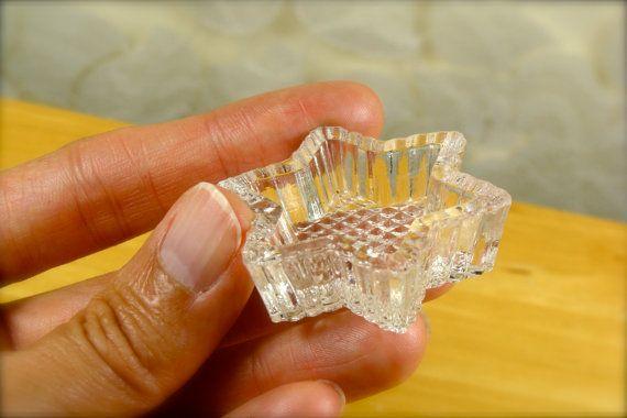 Set of 6 Tiny Cut Crystal Glass Miniature by TinyandBeautiful