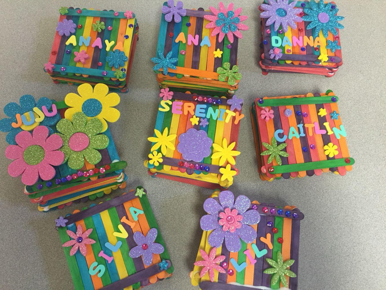Popsicle Stick Jewelry Box Craft Stick Crafts Kids