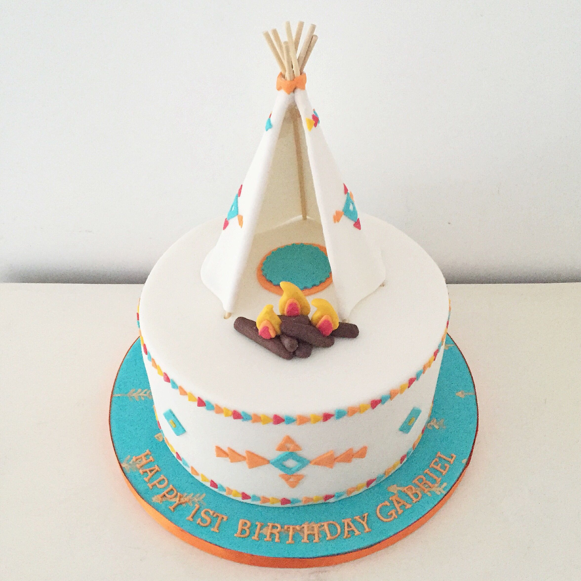 Teepee Birthday Cake By Blossom & Crumb