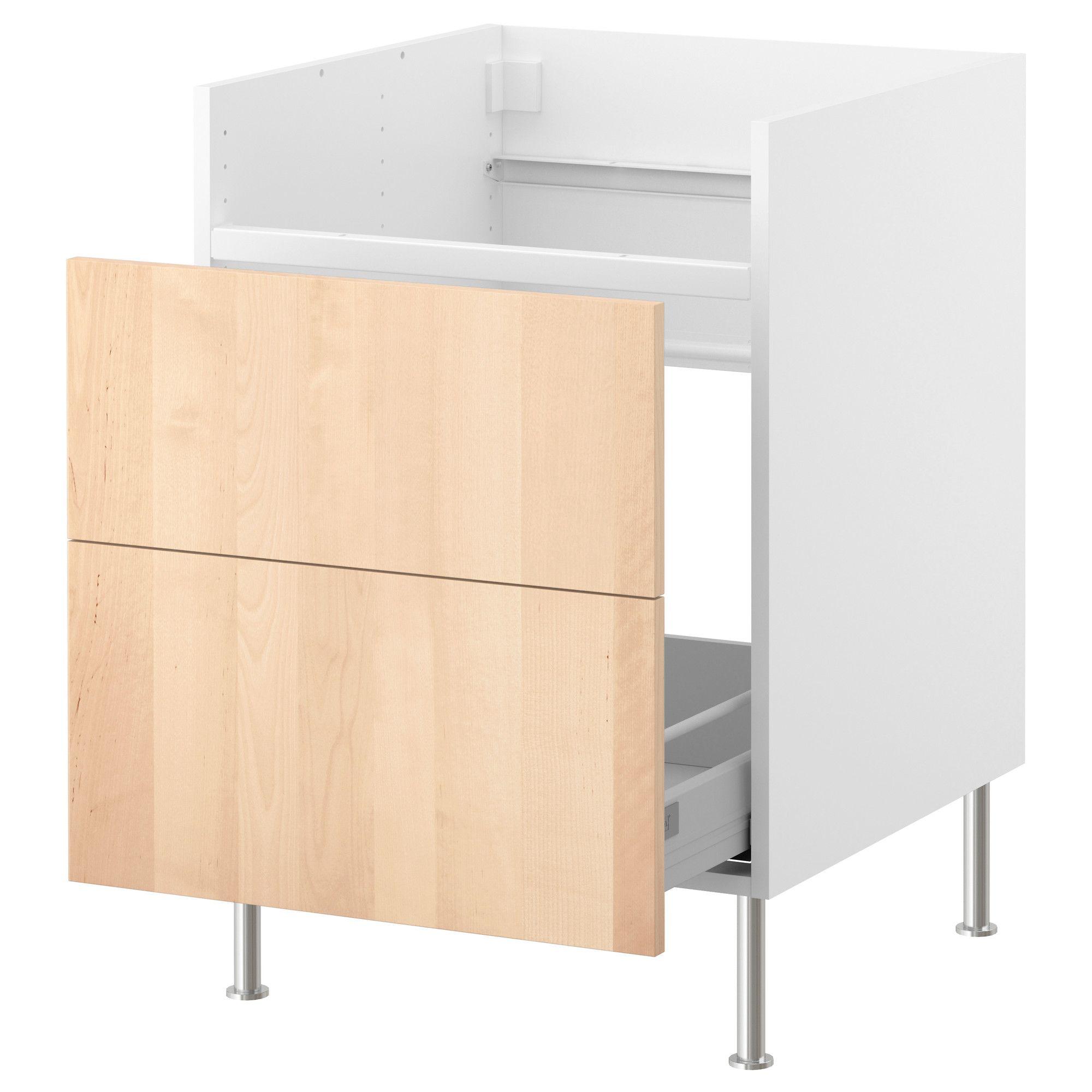 FAKTUM Base cab w 1 drawer for DOMSJÖ sink - Nexus birch veneer, 60 ...