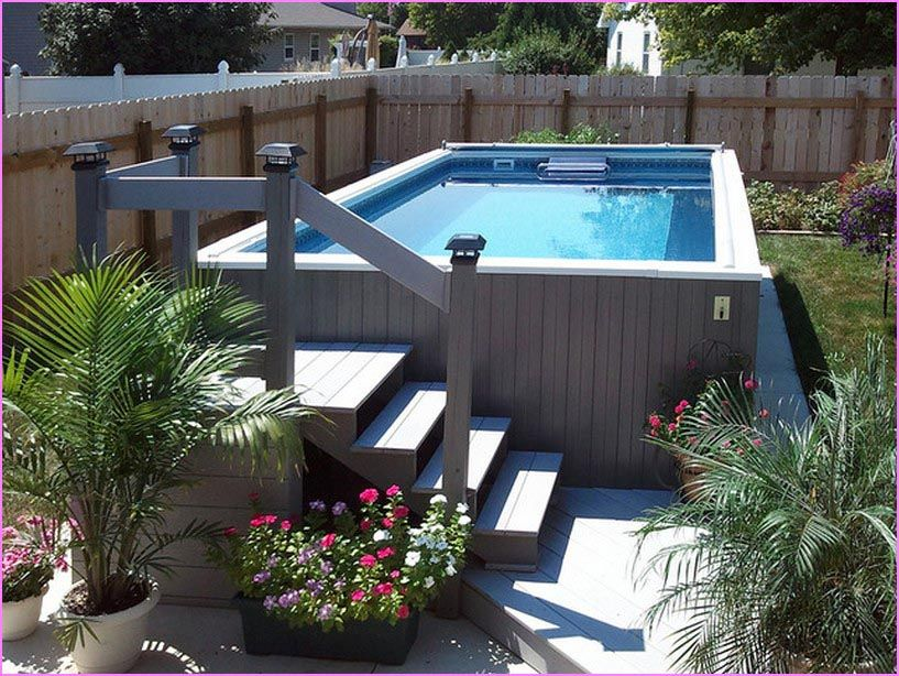 Above Ground Pool Ideas For Small Backyard Small Backyard Pools Above Ground Pool Landscaping Backyard Pool Landscaping