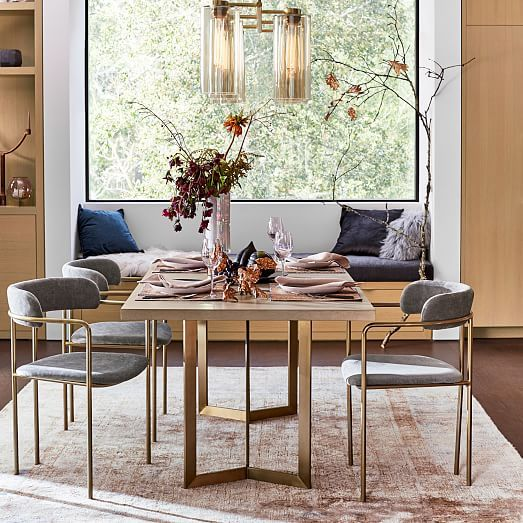 Tower Dining Table Concrete Dining Chairs Modern Dining Table