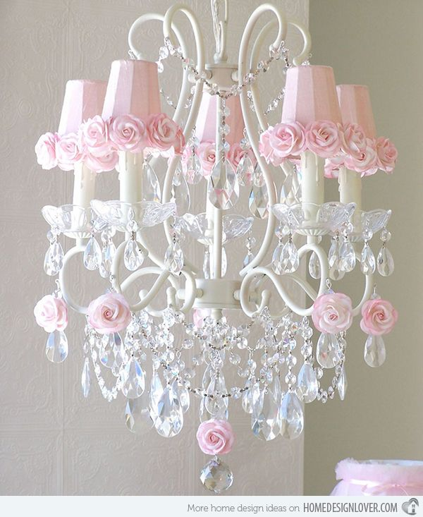 15 alluring pink chandeliers for a girls bedroom pink chandelier 15 alluring pink chandeliers for a girls bedroom home design lover aloadofball Choice Image