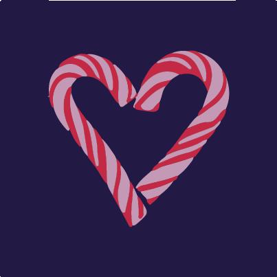 Candy Canes Heart Cavaliers Logo Sport Team Logos Team Logo