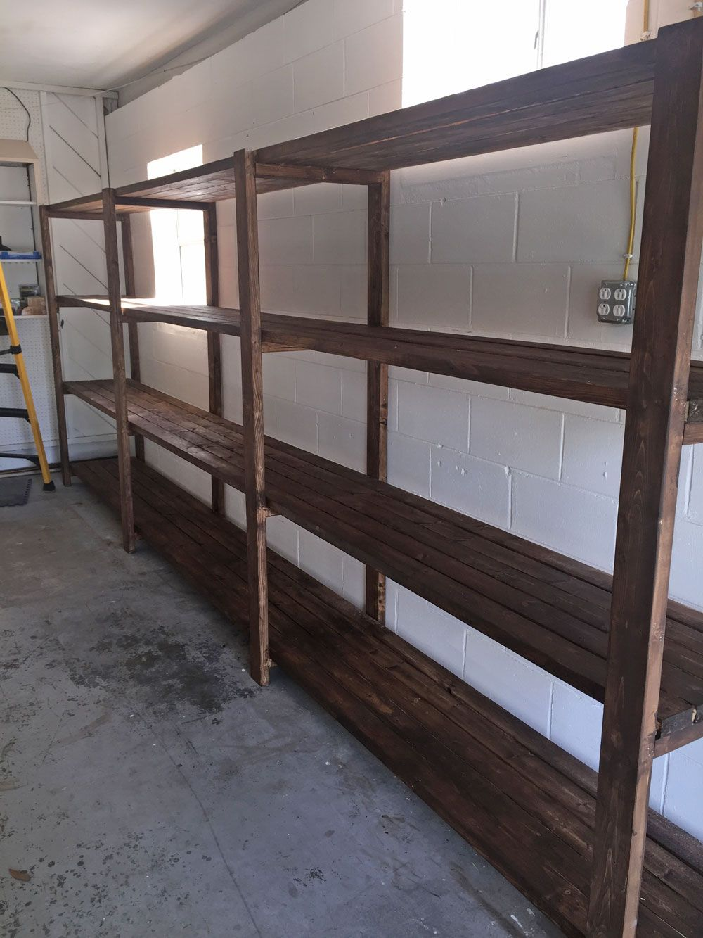 Stained 2x4 Diy Garage Storage Favorite Plans Ana White Diy Projects Diy Garage Storage Garage Storage Garage Decor