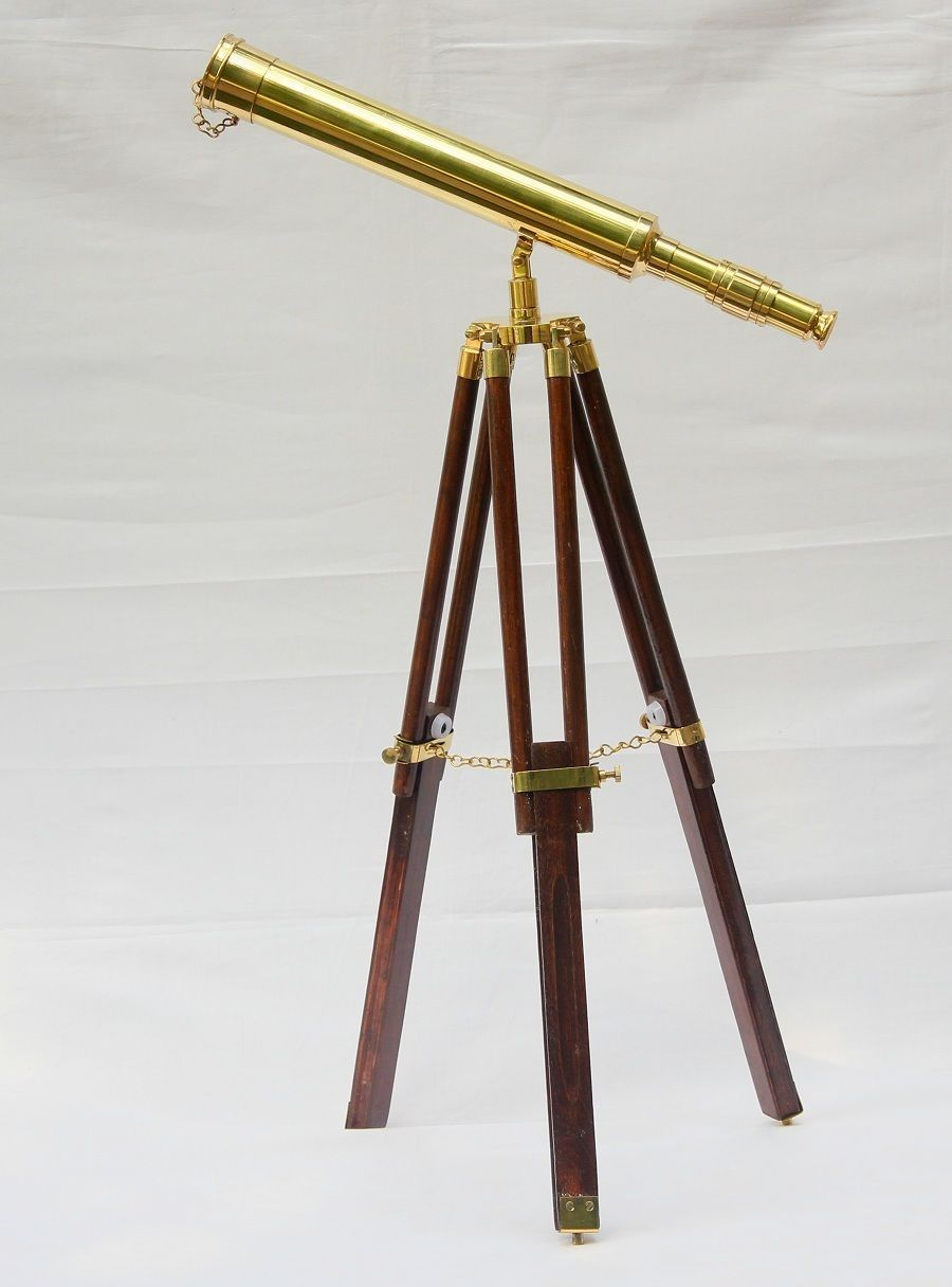 Shop Brass Telescope /& Stand In wooden Chest Antique Style Nautical Film Prop