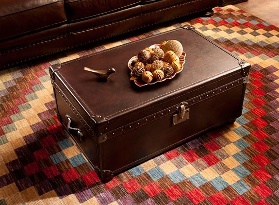 Enjoyable Gregg Leather Coffee Table And Storage Trunk Coffee Tables Andrewgaddart Wooden Chair Designs For Living Room Andrewgaddartcom