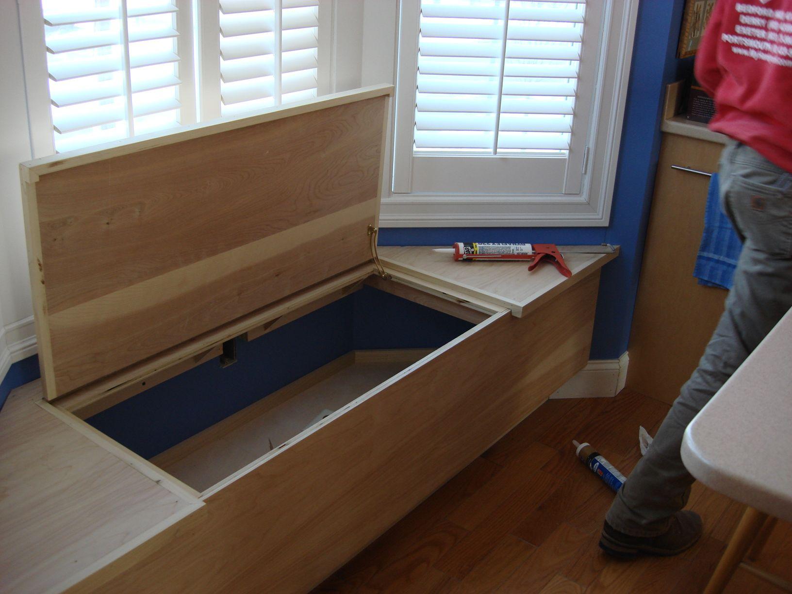 Solid Edges Toy Box That Opens Too Custom Window Seat Window Seat Diy Storage Bench
