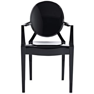 Black · Philippe Starck Louis Black Ghost Style Chair | Overstock.com
