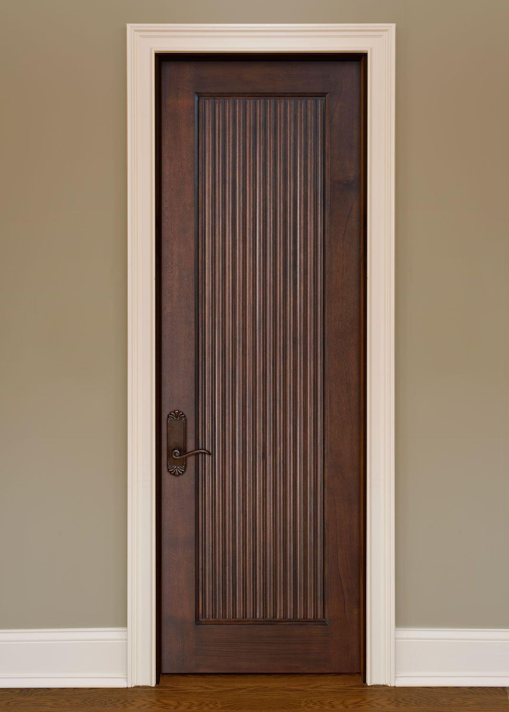 Interior Door Custom Single Solid Wood With Glh09 Custom Finish