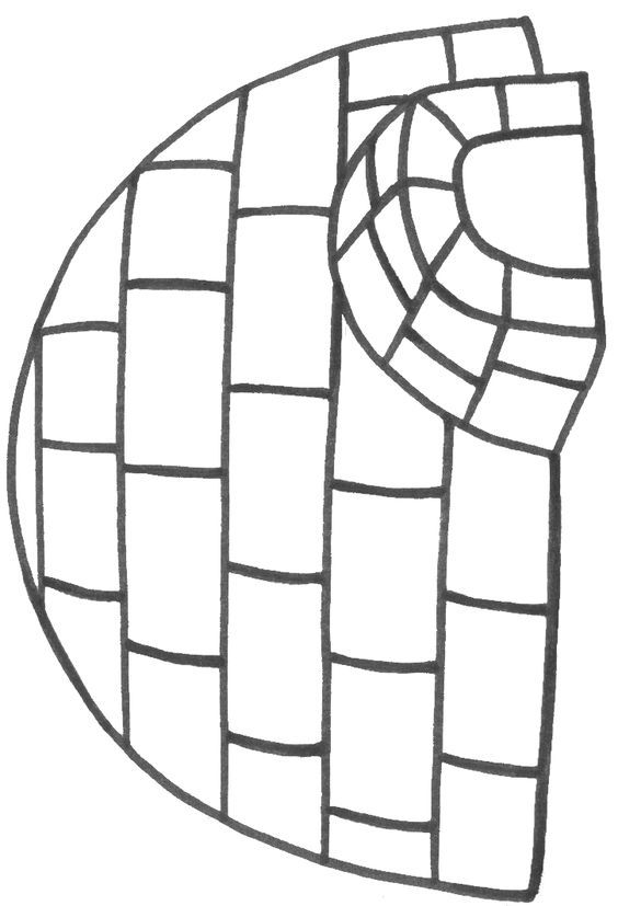 Igloo coloring sheet. Can fill with tissue paper, cotton