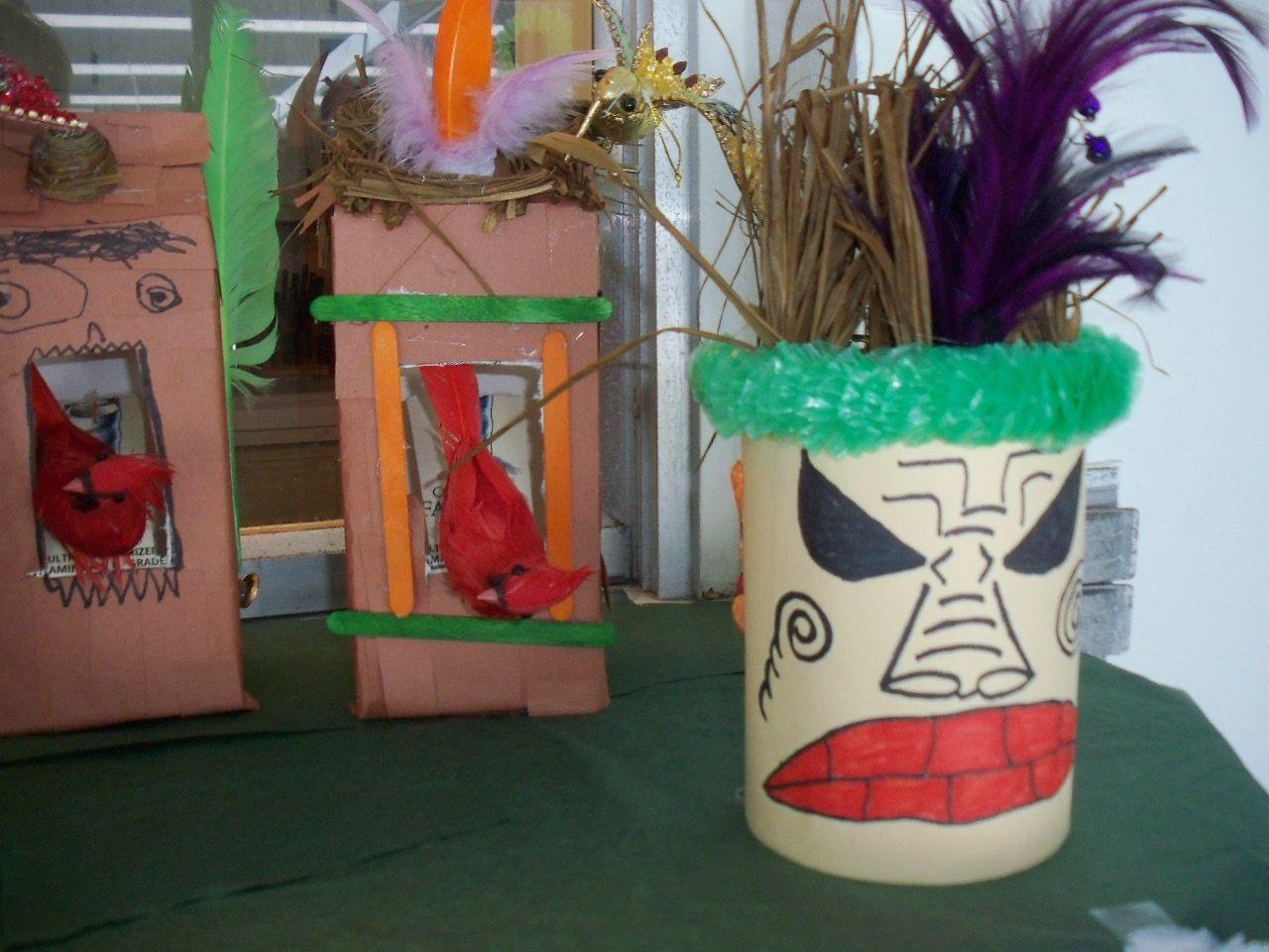 tiki craft school aged pinterest craft