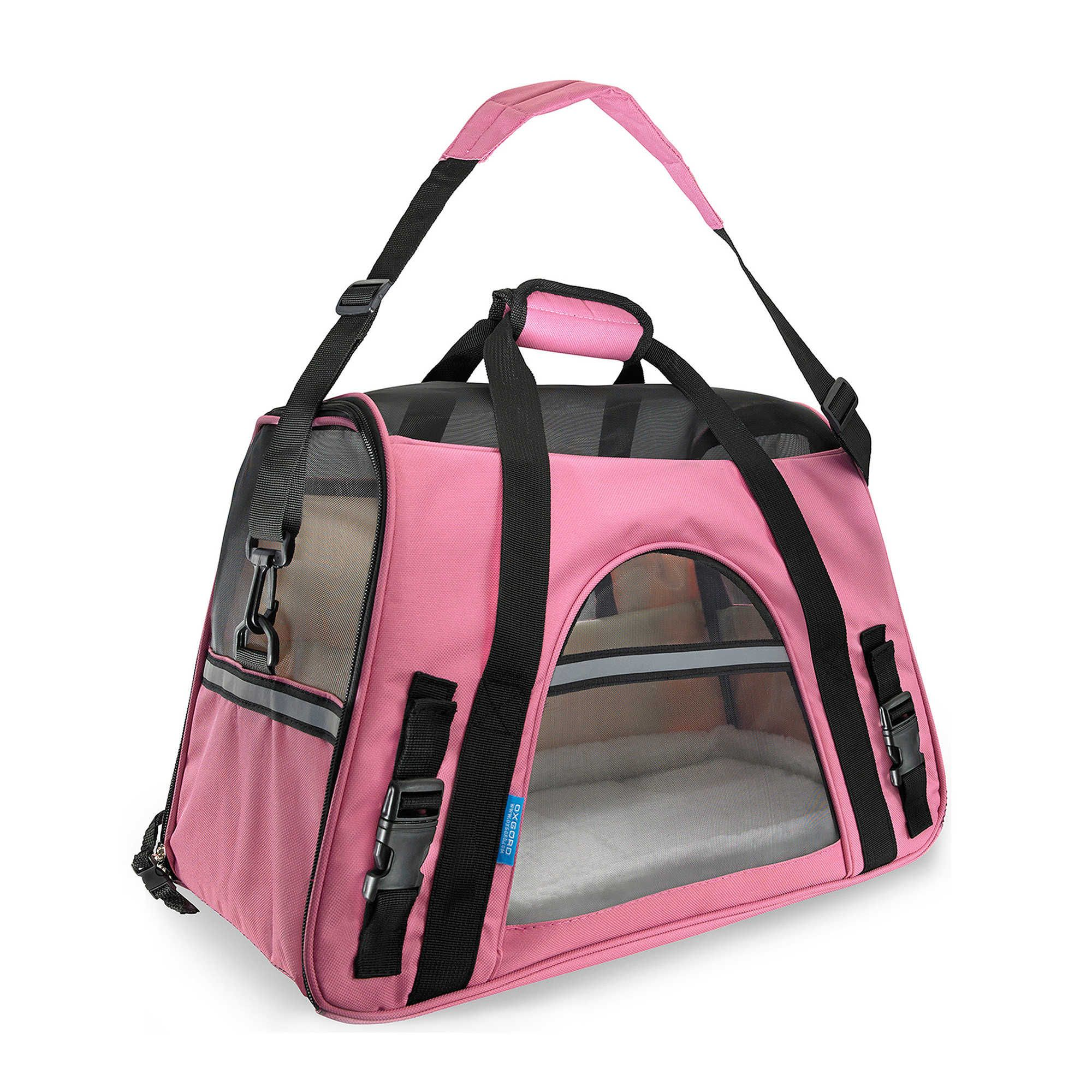 Oxgord Soft Sided Dog Cat Carrier In Black Pet Carrier