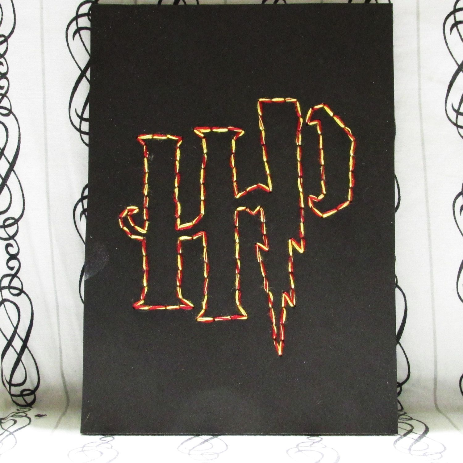 Harry Potter Logo embroidery--Gryffindor Colors 5x7 by StringTheerie ...
