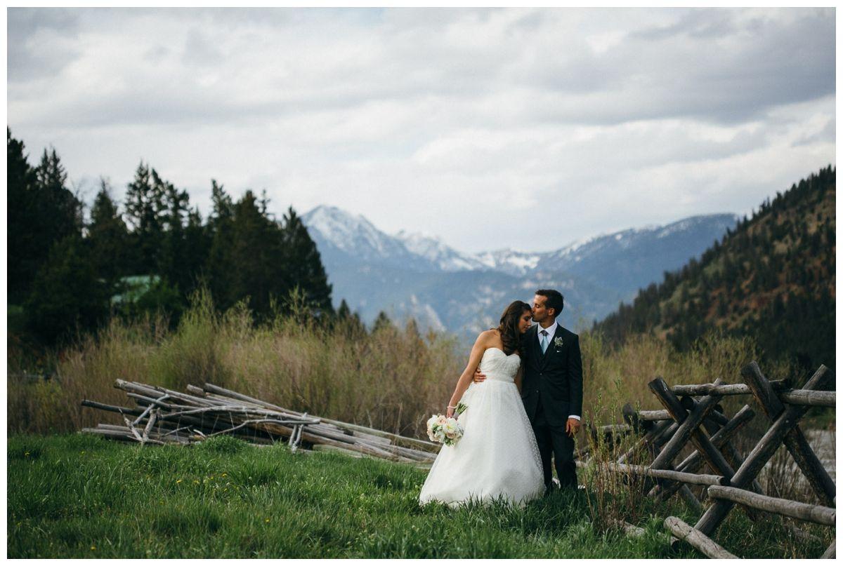Rainbow Ranch Sky Montana Wedding Mountains Jack Fence And A