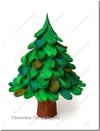 Manualidades ni os rbol de navidad papel pinocho crepe - Decoracion navidad papel ...
