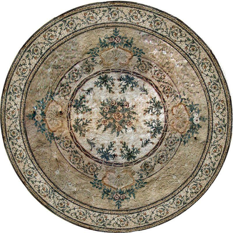 medallion mosaic pattern tile art stone floor tabletop floors tile art and art. Black Bedroom Furniture Sets. Home Design Ideas