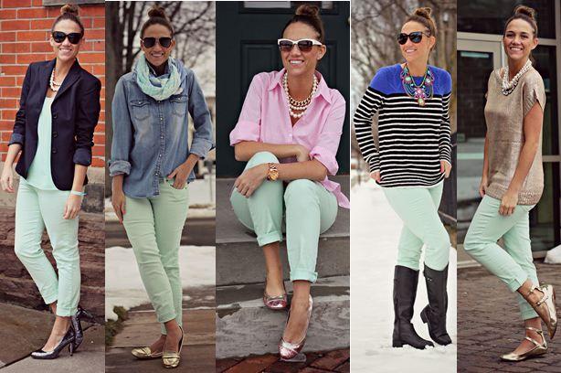 mint jeans 5 ways