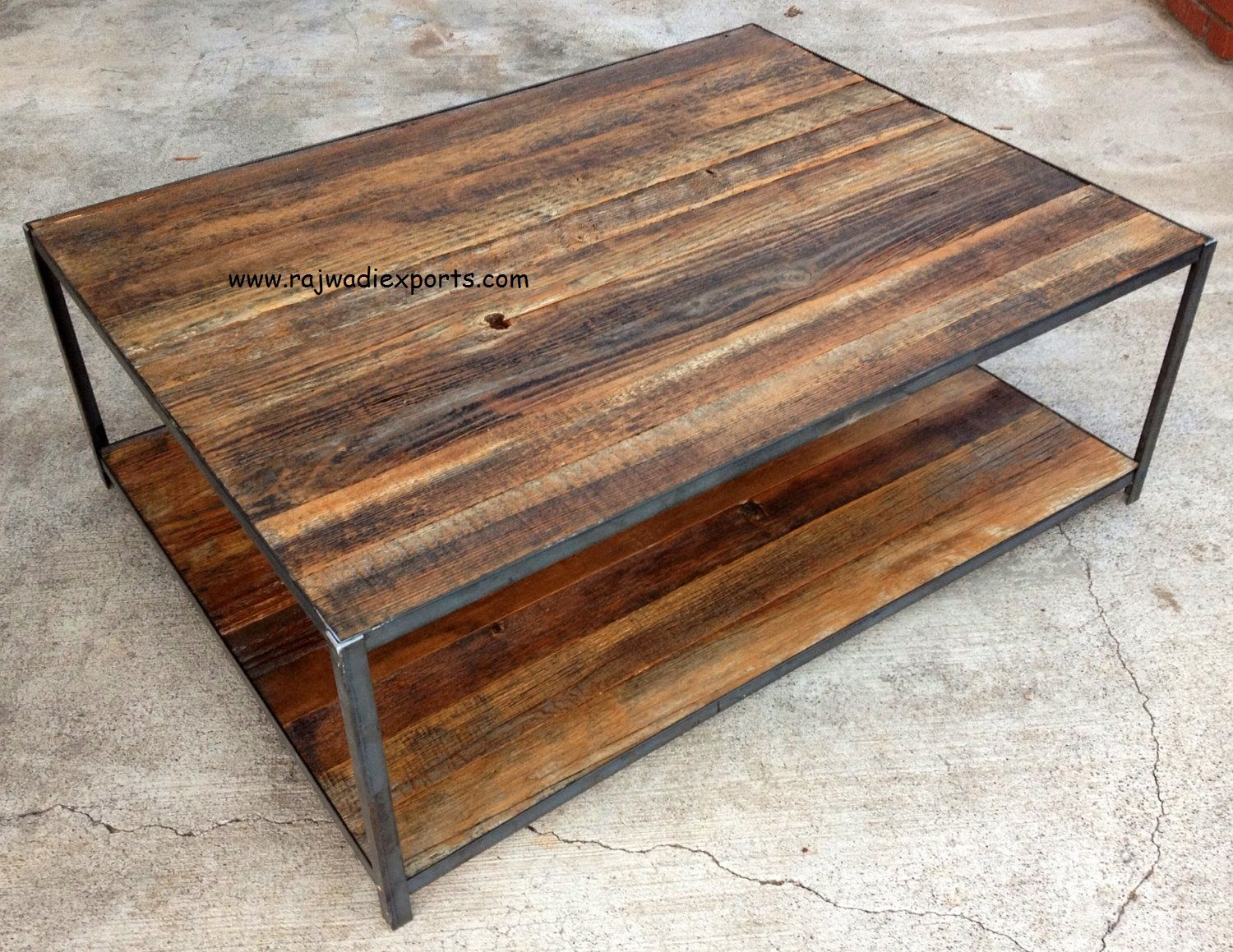 Rustic Art Designs Reclaimed Wood Coffee Table and Side board ...