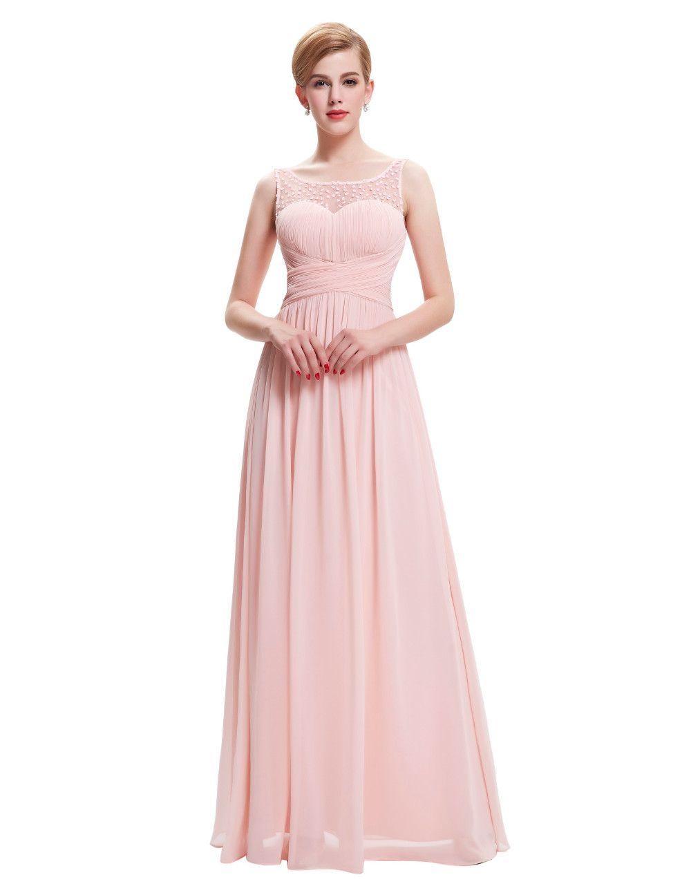 Beauty Long Sleeveles V-Back Chiffon Bridesmaid Dress | Bridesmaid ...