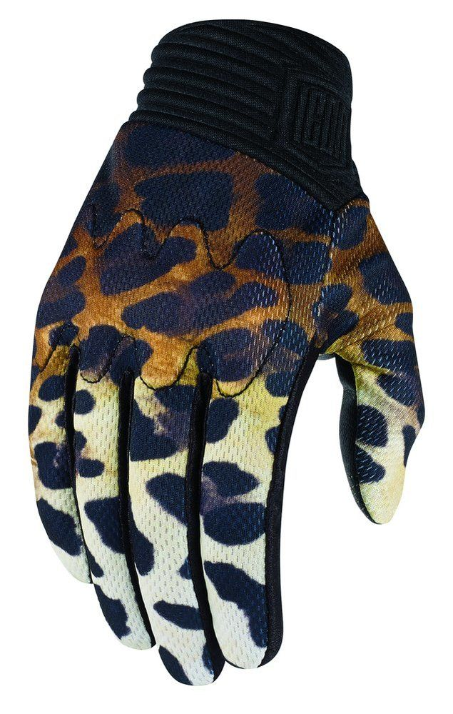 e7db46748dad9f Icon Women's 1000 Collection Cheeter Cheetah Print Armored Motorcycle  Gloves - Fierce & Beautiful!