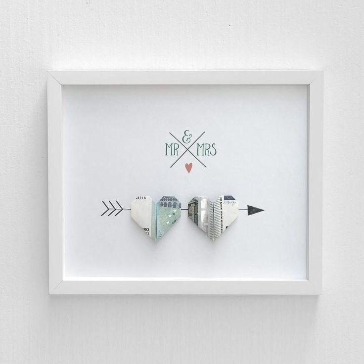 Anleitung Herz aus Geld falten – ein tolles Geldgeschenk