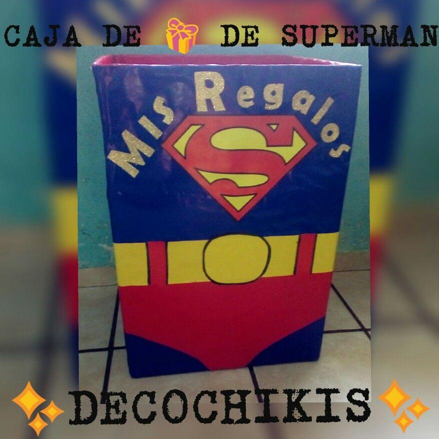 Caja De Regalos Superman Fiestas